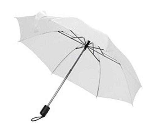 Preisvergleich Produktbild Taschenschirm Regenschirm - Farbe weiß - Durchmesser ca. 81 cm
