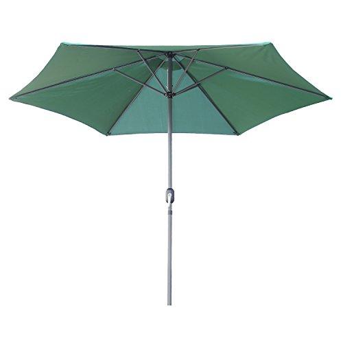 Angel living 300cm ombrellone in alluminio e poliestere resistente alla ruggine protezione uv (verde)