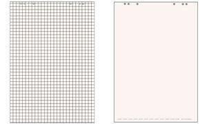 Landré Flip-Chart-Block, 20 Blatt, akriert / blanko, 1 Stück