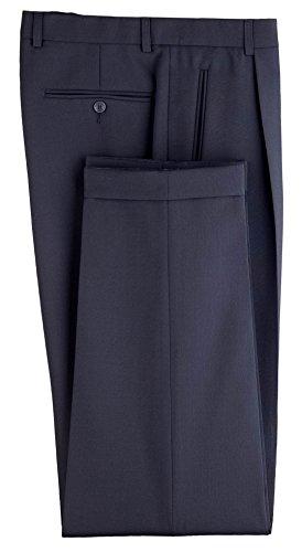 Anzughose/Kellnerhose Gentleline, Bundfalte, marine Blau
