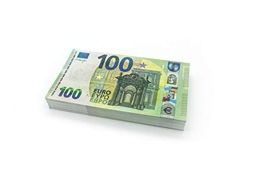 Cashbricks 100 x €100 Euro Spielgeld Scheine - verkleinert - 75% Größe