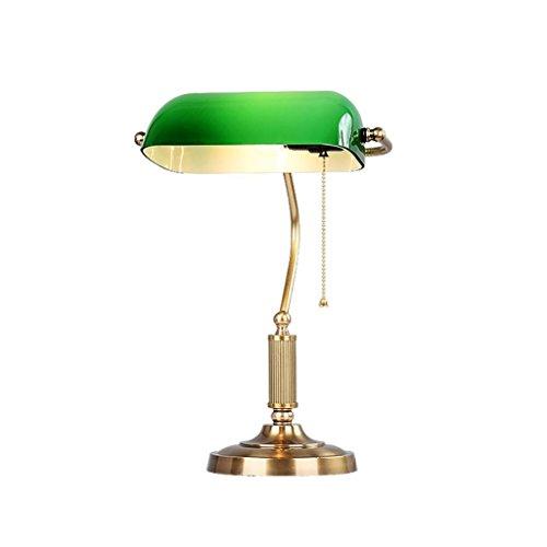 Lei Ze Jun Uk Table Lamps Traditional Retro Bankers Desk Lamp With Green Glass Shade Copper Desk Lamp Led Desk Lamp Buy Online In Bolivia At Desertcart Bo Productid 63878172