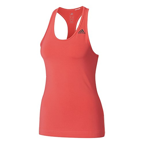 adidas D2M Tank Solid T-Shirt für Damen, Rosa (Rosbas), M -