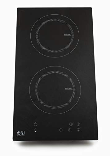 NJ IH-30 Double Induction Hob Built-in Electric Ceramic Cooker Sensor Control Timer 3500W