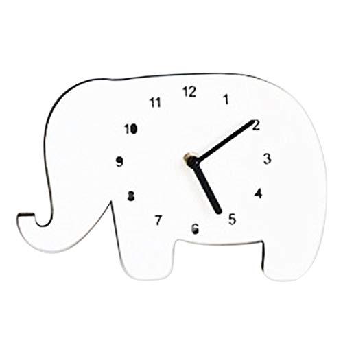 Madera maciza pared Reloj Reloj de cocina de reloj Salón Mute reloj...