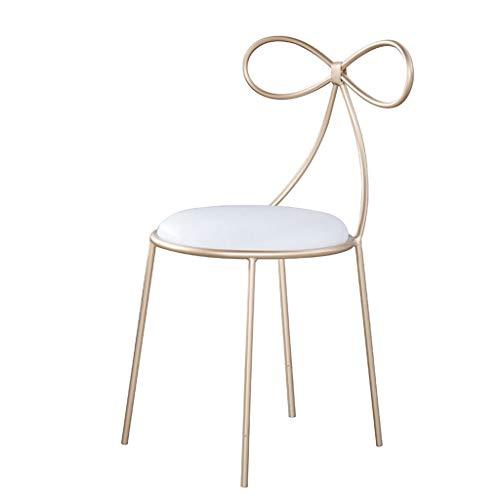 Chaise scandinave HUIQI Chaise de salle à manger Simple Moderne Loisirs Chaise de Restaurant Restaurant Chaise Maquillage Chaise Haute Chaise Café Chaise de Bar Golden Art Chaise Bar Chaise Assise Hau