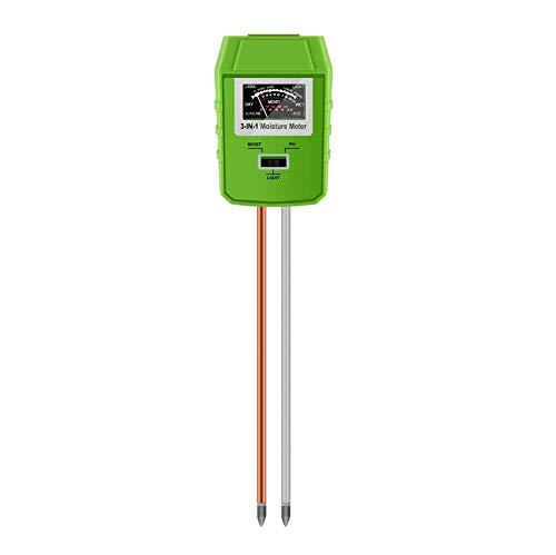 TOOGOO Boden Test Kit, Verbesserter Intelligenter 3-In-1 Boden Licht/Ph/Feuchte Sensor Tester, Garten Ger?te, Bauernhof, Rasen, Gartenerde Ph Meter, Experten Für Pflanzen Gesundheit -