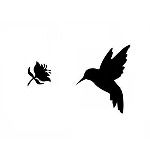 Windy5 Blumen-Vogel-Wand-Aufkleber-Dekor-Wohnzimmer Schlafzimmer Innen Kunst-Abziehbilder DIY Murals PVC-Plakat