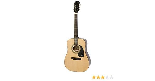 01c645a1442fda Epiphone DR-100 Guitare acoustique Dreadought Natural: Amazon.fr ...