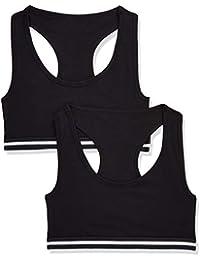 Marca Amazon - IRIS & LILLY, Sujetador Deportivo para Mujer, Pack de 2