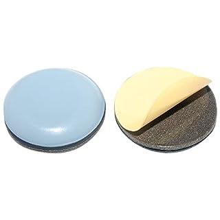 HKB ® 4 Stück Teflon-Möbelgleiter Ø 24 mm selbstklebend, PTFE-Gleiter …