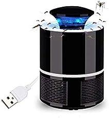 Globus Geschaft Mosquito Trap Killer Kids Safe USB Powered UV Light for Indoor & Outdoors (Black)