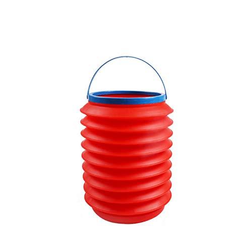 Hywot Auto Mülleimer, Teleskop Klappbare Tragbare Kreative Eimer Büro Multifunktions Regenschirm Lagerung für Auto Reisen & Camping,red