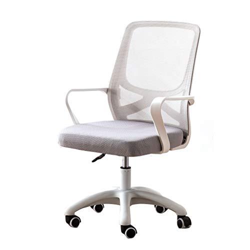 Ergonomischer Bürostuhl Günstige Schreibtischstuhl Mesh-Computer-Stuhl mit Lendenwirbelstützarmen Moderner süßer drehbarer Rolling Task Mittlerer Rücken Chefsessel for Frauen Männer Erwachsene Mädchen -