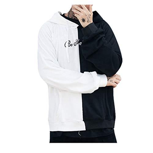Kobay Volto Sorridente Moda Stampa Felpa con Cappuccio del Rivestimento Pullover Teen Unisex(Nero,Medium)