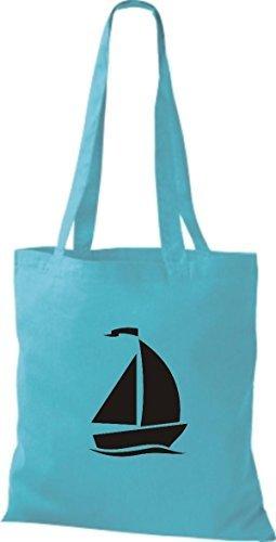 JUTA Borsa di stoffa barca a vela, Jolle ,SKIPPER,CAPITANO Sky