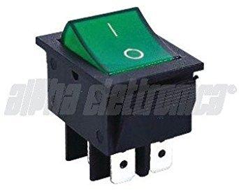 ALPHA ELETTRONICA Interruptor doble luminoso-4terminales-Orificio