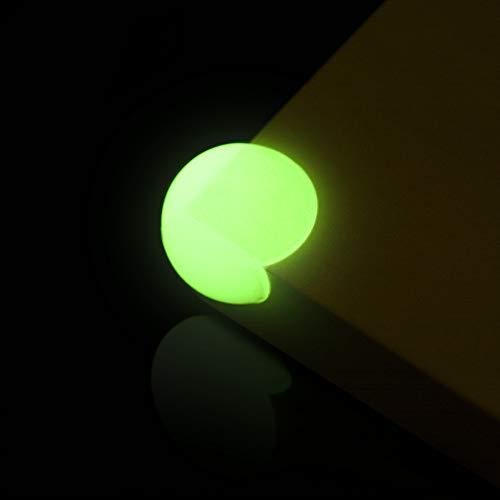 SafeBob Eckenschutz und Kantenschutz - leuchten im Dunkeln - mit starkem Halt und vormontierten Klebeflächen. Schützt Dein Kind oder Baby bei Stößen an Ecken, transparent, 12 Stück