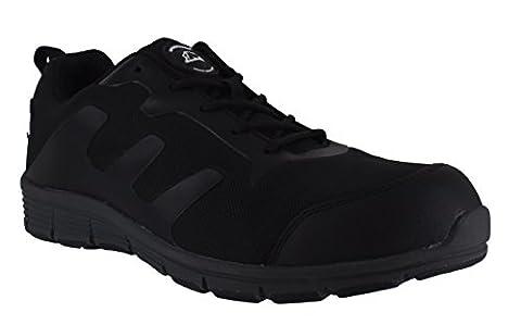 grundlegung GR95Leichte Herren-Stahlkappe Sicherheit Schuhe Turnschuhe, Mehrfarbig - Nero/Grigio - Größe: (Resistant Steel Toe Schuhe)