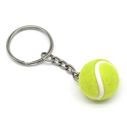 Lixada Mini Llavero de Forma de Pelota de Tenis, Llavero Tenis de Fieltro Regalo para los Amigos, Familias (Verde-1)