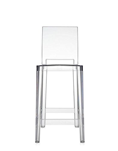 Kartell One More Please Taburete, Plástico, Transparente (Crystal), 2 unidades