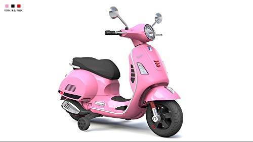 PIAGGIO Moto Scooter Elettrico Per Bambini 12V Vespa GS Sport Rosa