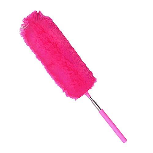 Mumuj Mikrofaser Staubwedel Duster, Handstaubwischer mit Teleskop Stange Staubbesen Waschbar Antistatisch kratzfrei Staub Wischer Entstaubung für Decken, Ventilatoren, Cobweb, Rollos (Pink)
