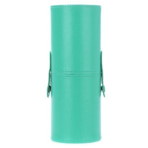 TOOGOO(R)12pcs pinceau de maquillage professionnel Set Outil de maquillage de kit de brosse de maquillage avec Cup Holder Case en cuir (vert)