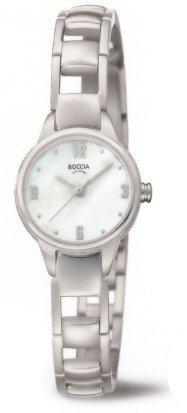 Boccia Damen Analog Quarz Uhr mit Titan Armband 3277-01