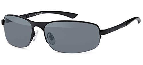 BEZLIT Herren Sonnenbrille Sport Rad Brille Biker Rund Oval 80er Nerd Brillen 479 Schwarz