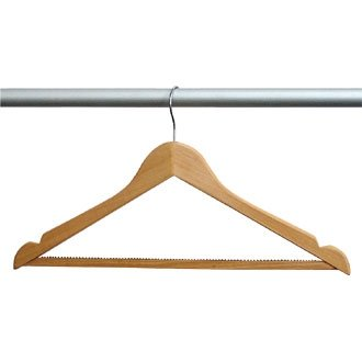 Konturierte Kleiderbügel (Winware Kleiderbügel aus Holz)