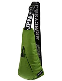 ELECTROPRIME Green Outdoor Sports Running Nylon Sling Body Shoulder Belt Chest Bag