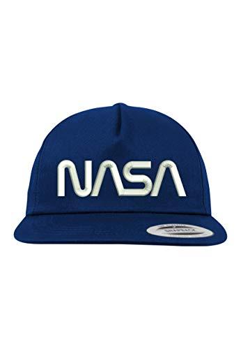 TRVPPY 5 Panel Snapback Cap Modell NASA, Weiß-Navy, B610 - Hat Tisa