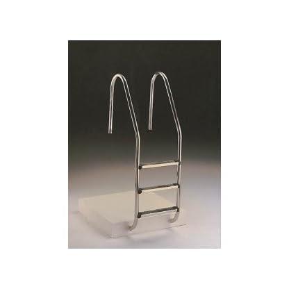 Astral–escaleras piscina–Escalera standard acero inoxidable 4peldaños