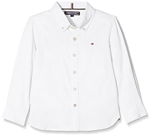 n Hemd Ame Stretch Oxford Shirt L/S, Weiß (Bright White 123), 164 (Herstellergröße: 14) (Tommy Hilfiger Oxford-hemd)