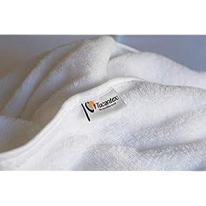 flauschig flauschige Microfaserdecke für Massageliege Waschen und schnell trocknen. Farbe: Weiß Maße: 100 x 200 cm.