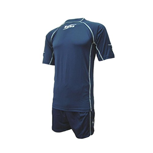 Zeus Herren Volleyball Fußball Trikot Hose Shirt Shorts Indoor Handball Training Ausbildung KIT SQUIBB (XL, BLAU)