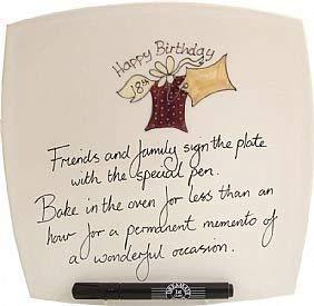 18. Geburtstagsgeschenk Signatur Platte (SQ Kiste) (Signatur Lesen)