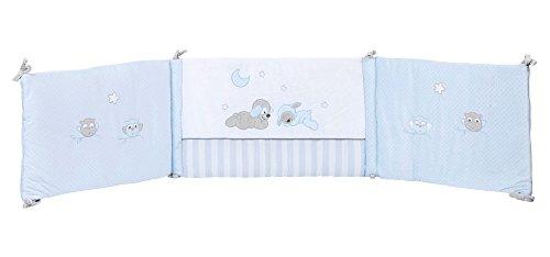 Nattou Tour de lit Bébé 70x140 cm et 60x120 cm, Garçon, bleu - Sam et Toby