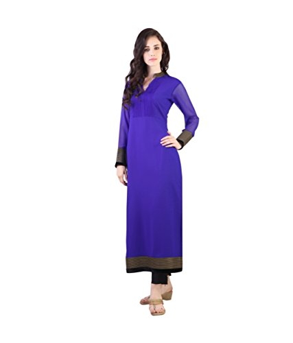Fusion Multicolor Cap Half Long Short Sleeve sleeveless Kurtis Kaftan for Girls (GT-KVG-B2-XXL)