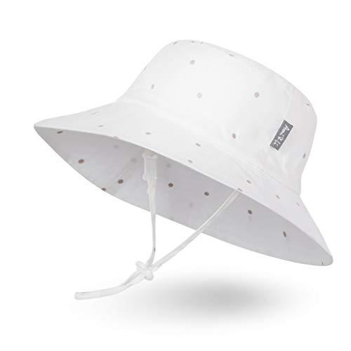 avec protection nuque et lani/ère de menton ajustable Chapeau de soleil /à large bord pour femme muni d/'un cordon r/églable