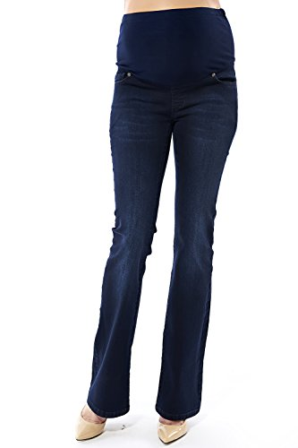 Gravidanza Pantaloni da elastico, Massimo Comfort, Jeans da donna Blue 46 - New Baby Arrangement