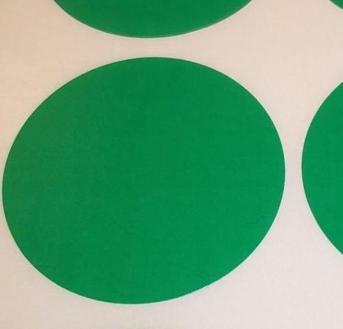 Pack Of 100 Grande 63mm Redondo / Circular Código De Color Lunares En blanco Precio Pegatinas Etiquetas - Elija Su Color/s (Verde)