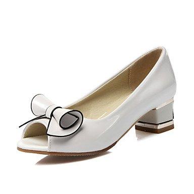 zhENfu Scarpe donna Chunky Heel Peep toe sandali parte & sera abito / / Casual rosa / Bianco White