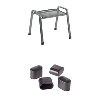 Greemotion Stapelhocker Toulouse Eisengrau, Gartenhocker Einsetzbar Im  Innen  Und Außenbereich + Fußkappen Für Stapelsessel