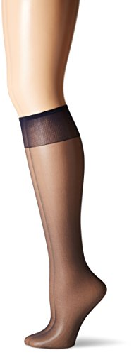 Hanes Socken Blau (Hanes Silk Reflections Women's 2-Pack Knee High Sandalfoot, Class Navy, One Size)