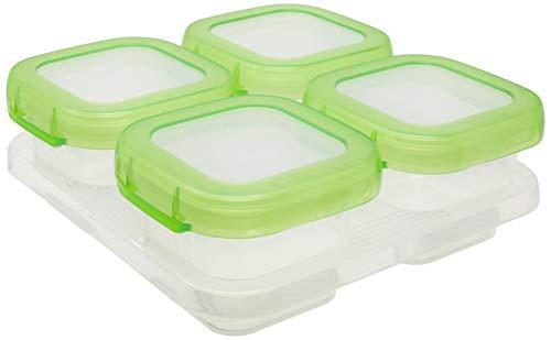 OXO Tot Baby Blocks Freezer Storage Containers, 4 x 120 ml - Green (Baby-blöcke)