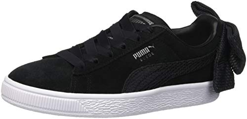 Puma Damen Suede Bow Uprising WN's Sneaker, Schwarz Black White 01, 37 EU