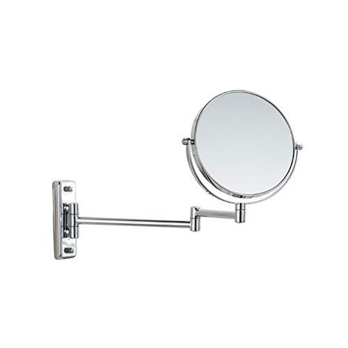 Kosmetikspiegel, Schminkspiegel für Wandmontage 3X 360 ° drehbar ausziehbarer beidseitiger Schminkspiegel für Badezimmer Schlafzimmer (Size : 7 inch) - Schwanenhals Vanity Licht