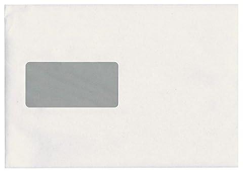 Idena 10228 - Versandtasche DIN C5, 90 g/m², selbstklebend, mit Fenster, 500 Stück, FSC-Mix weiß